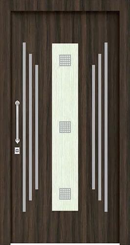 Dark Brown with light Accent door skin laminate & Dark Brown with Light Accent Door Skin - Glam Laminates