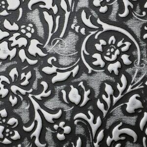 LL FLORAL Black Silver matt_D Glam Laminates