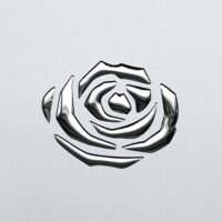PL 3D ROSES Silver PF met Silver_D Glam Laminates