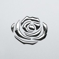 PL 3D ROSES Silver PF met Silver_D Glam Laminates